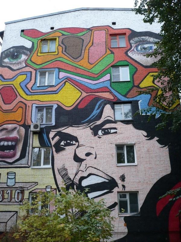 Граффити в Москве на Изумрудной улице-310 Squad (Россия)