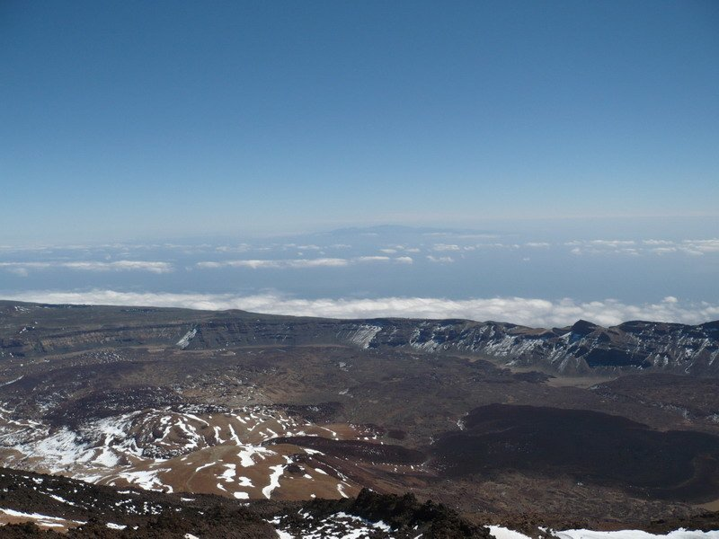 Панорама острова Тенерифе с вершины вулкана Тейде