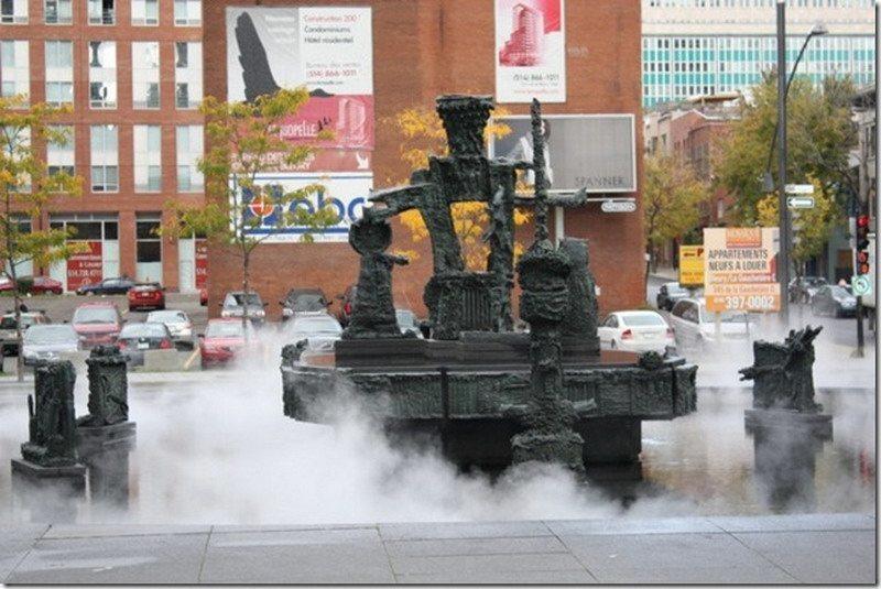 фонтан в Монреале, Канада