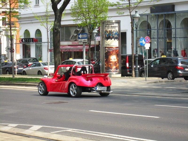 нестандартная машинка ра Рингштрассе, Вена