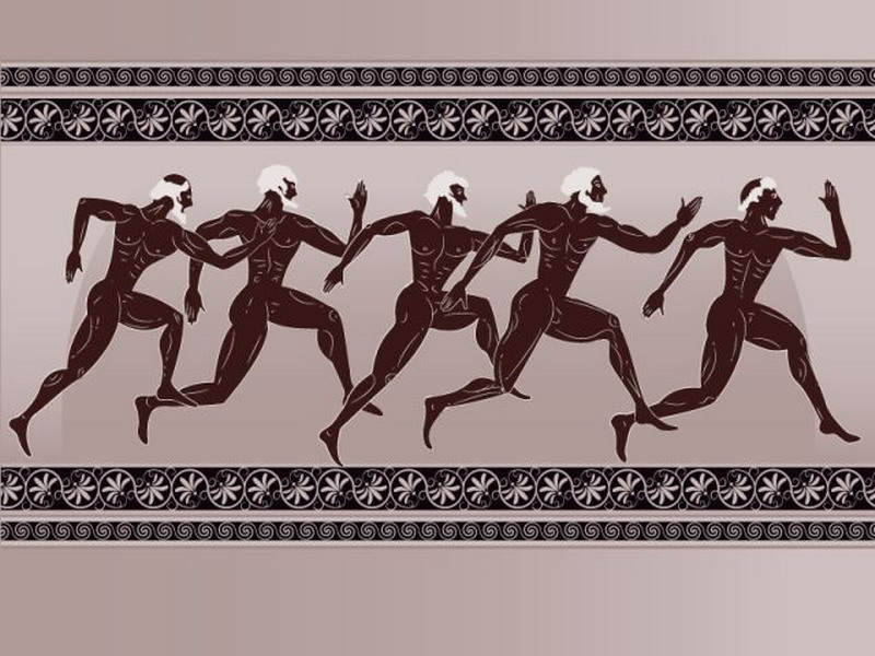 состязание по бегу на античной Олимпиаде