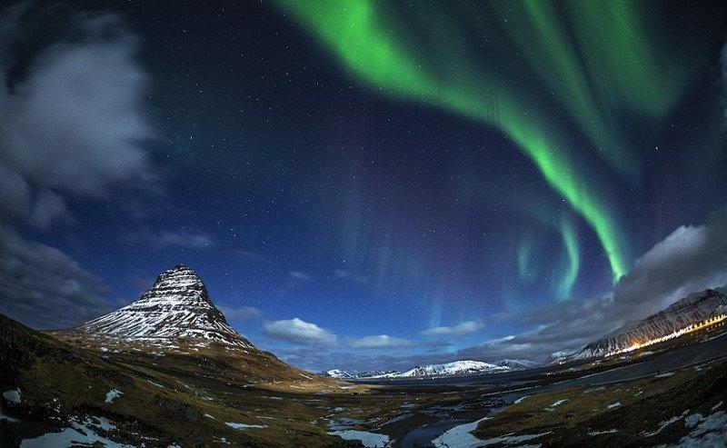 фото-сполохи северного сияния, Исландия