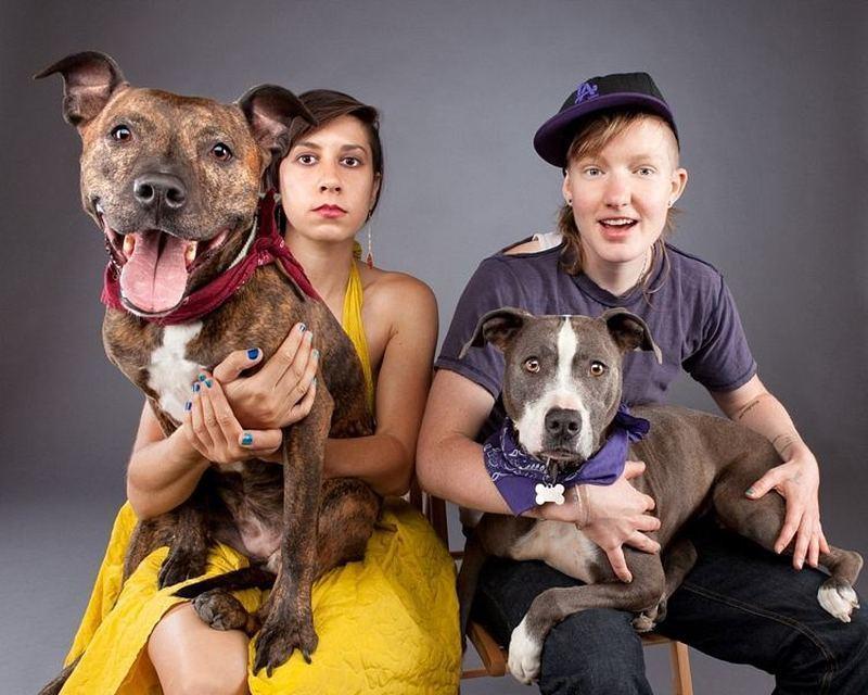 люди и собаки-фото