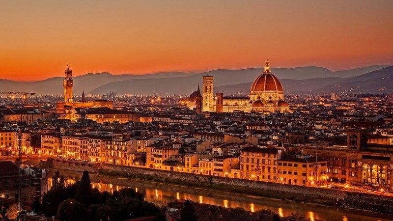 ночная Флоренция, Тоскана