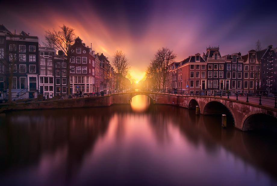 вечерний Амстердам фото