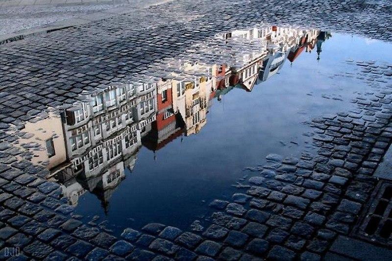 фото-отражение в луже