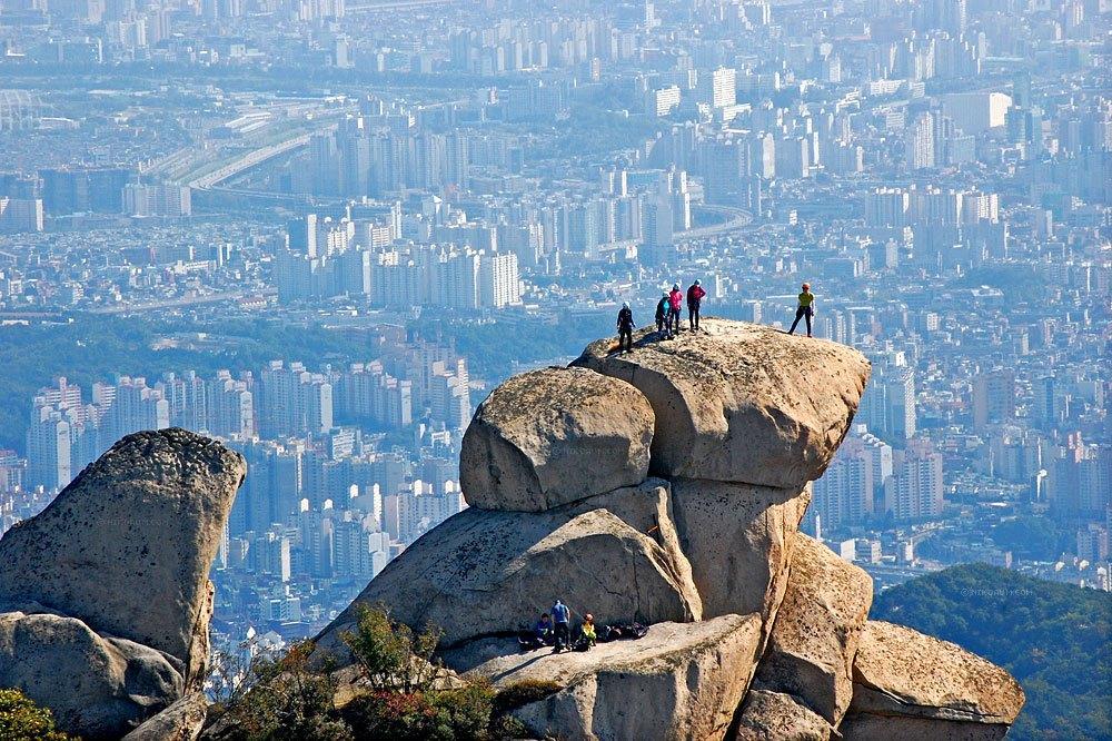 Сеул-столица Южной Кореи-гора Пукхансан