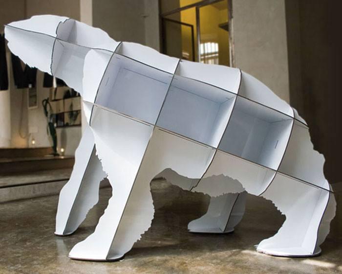 книжная полка в форме медведя фото