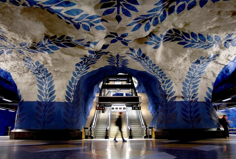 станция стокгольмского метрополитена фото