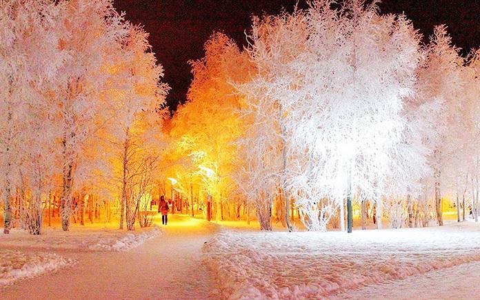 красивая зимняя сказка фото