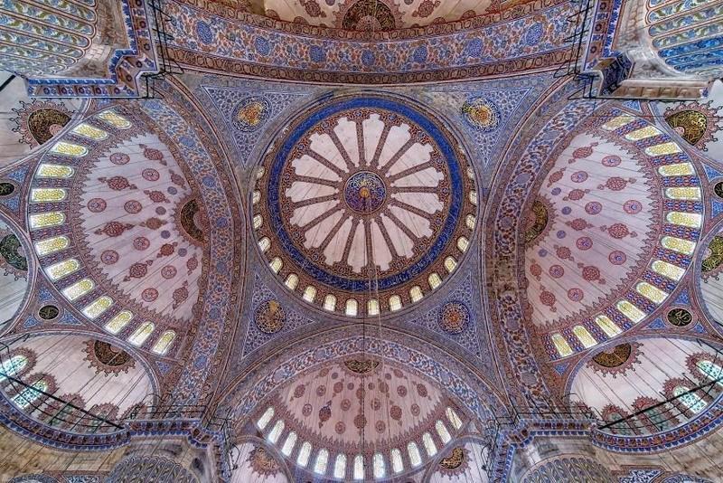 рукотворная красота-потолки мечетей-фото2