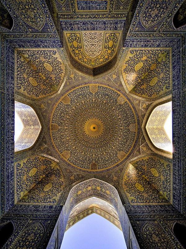рукотворная красота-потолки мечетей-фото7