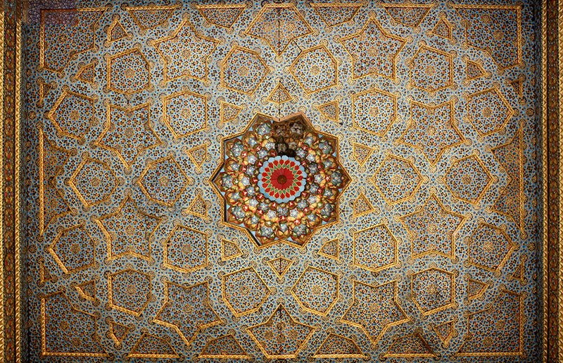 рукотворная красота-потолки мечетей-фото4