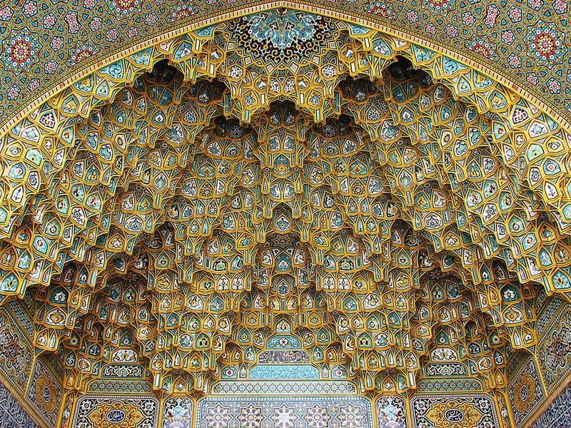 рукотворная красота-потолки мечетей-фото5
