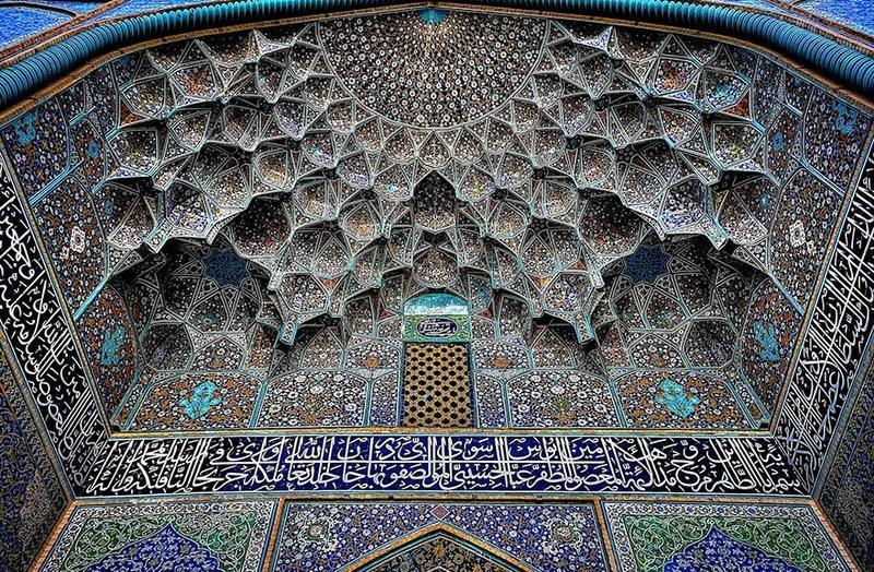 рукотворная красота-потолки мечетей-фото8
