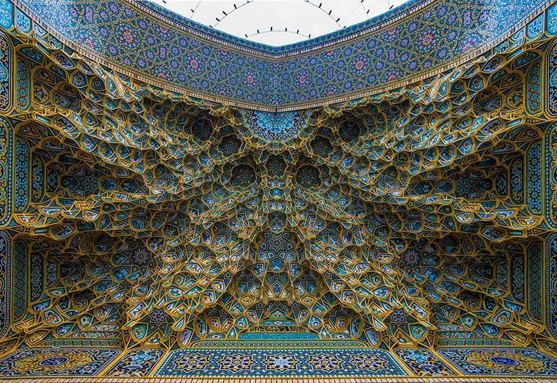 рукотворная красота-потолки мечетей-фото6