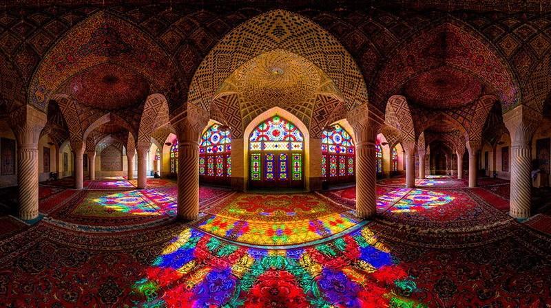 рукотворная красота-потолки мечетей-фото17