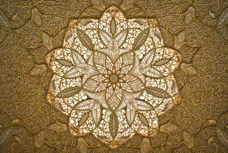 рукотворная красота-потолки мечетей-фото12