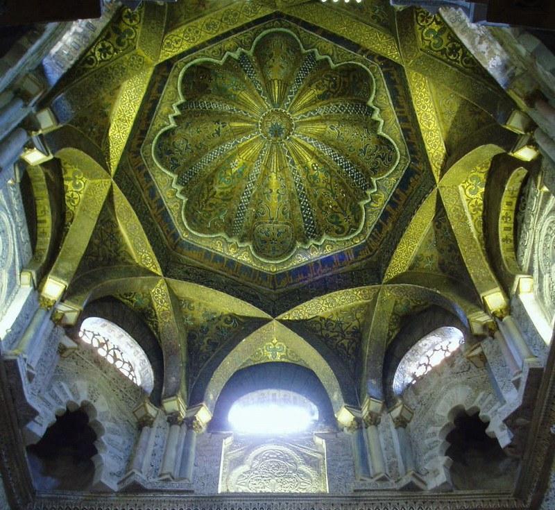 рукотворная красота-потолки мечетей-фото13