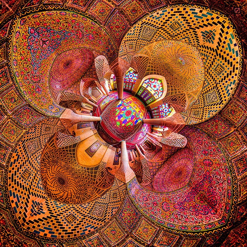 рукотворная красота-потолки мечетей-фото18