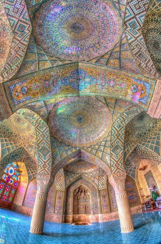 рукотворная красота-потолки мечетей-фото15