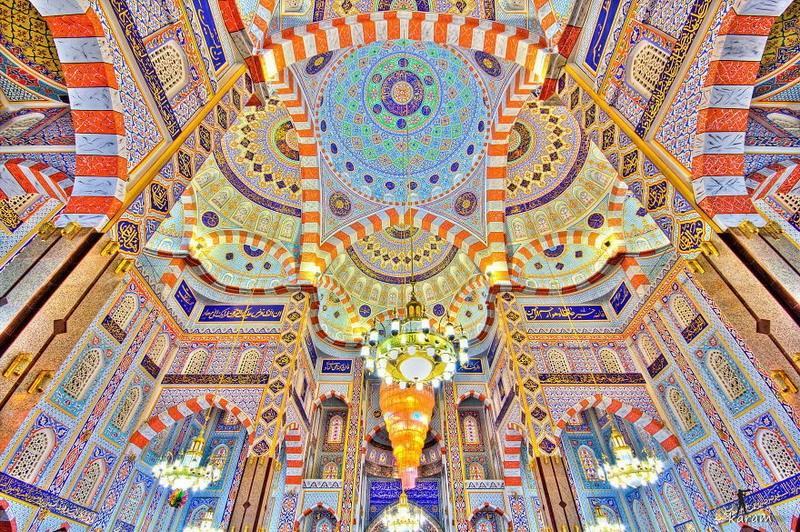 рукотворная красота-потолки мечетей-фото11