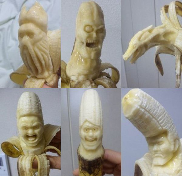 банановые скульптуры фото
