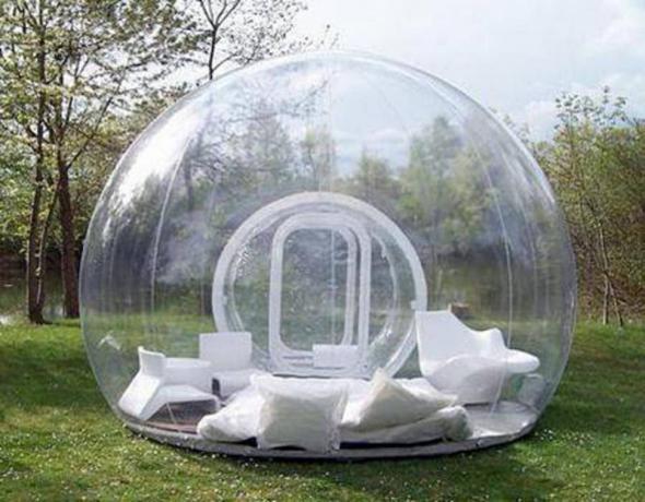 прозрачная палатка фото