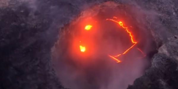 Улыбающийся вулкан Килауэа (фото и видео)