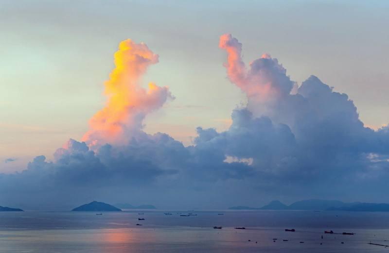 забавные облака фото