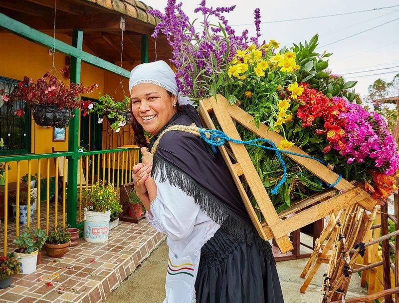 цветочница из Колумбии-фото