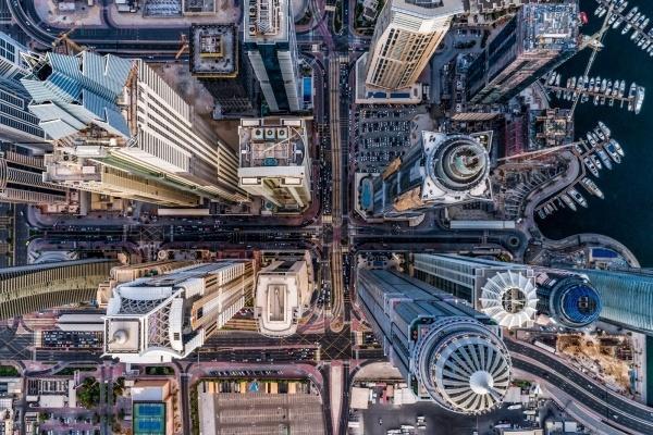 Дубай - фото сверху