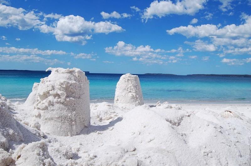 Пляж Hyams Beach в Австралии