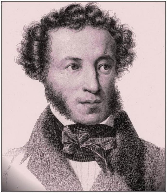 гравюра с портретом Пушкина фото