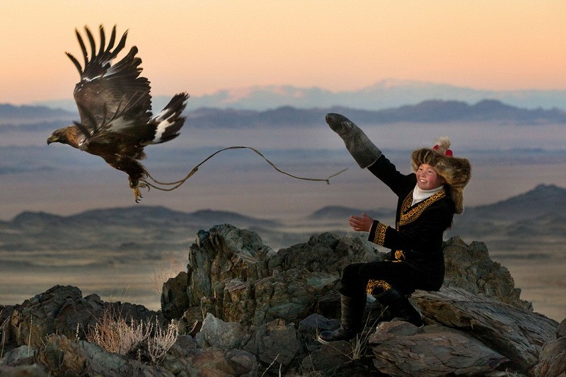 Охота с беркутом в Казахстане  фото