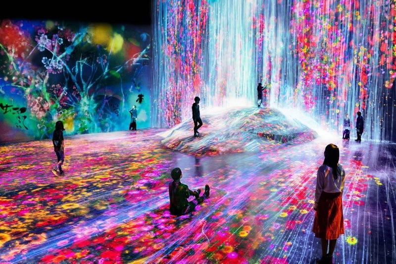 Токио, музей цифрового искусства - фото