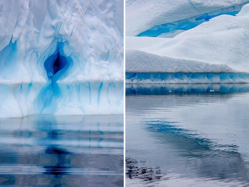 фото синий лед в Антарктиде